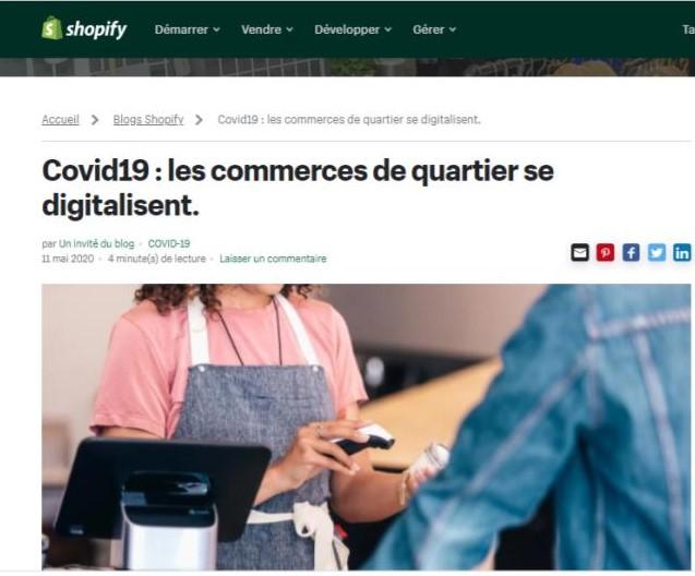 Article de Blog Shopify